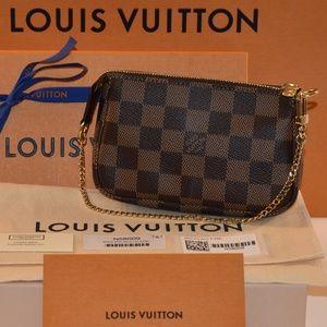 Authentic Louis Vuitton Mini Pochette DamiereEbene